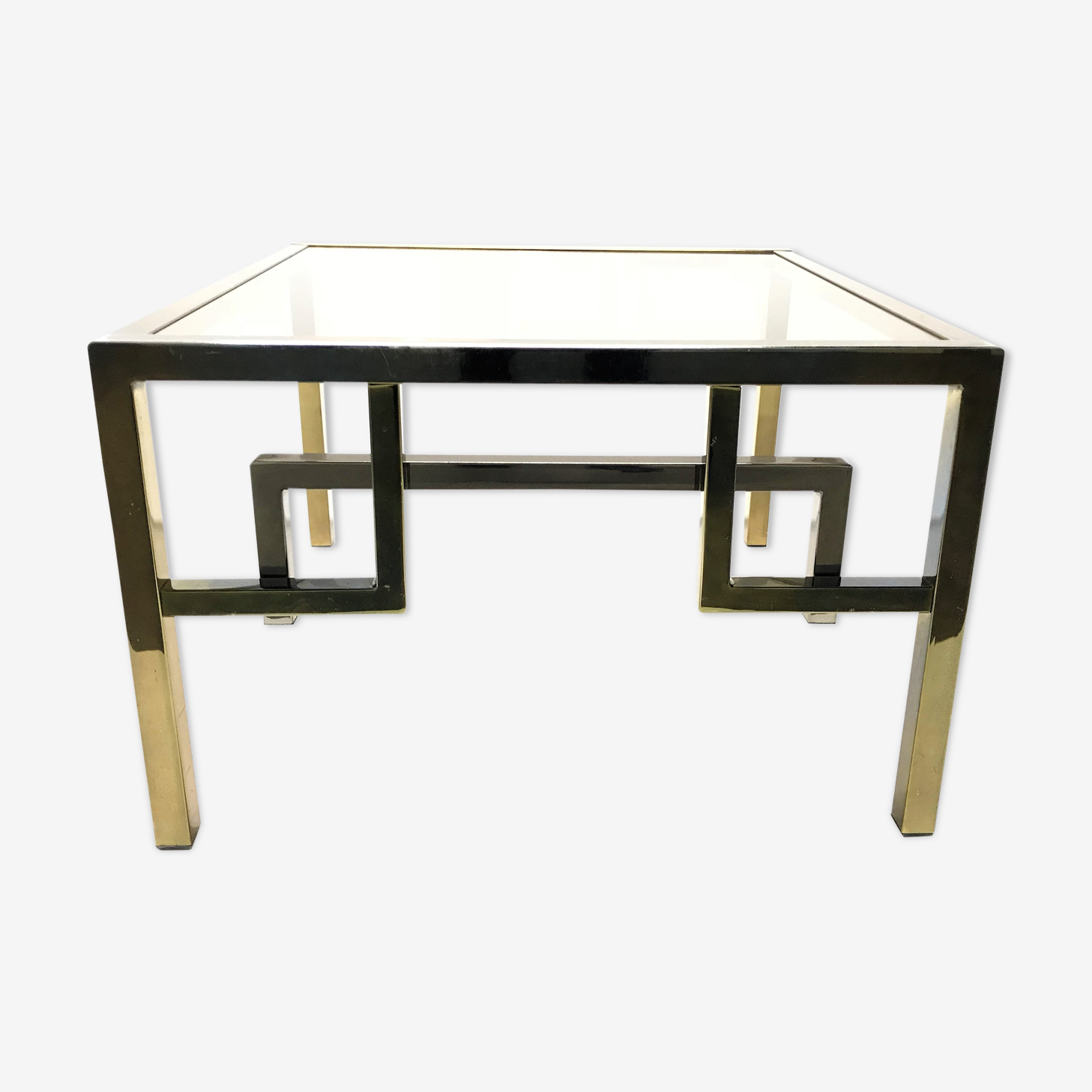 Vintage brass coffee table, 1970