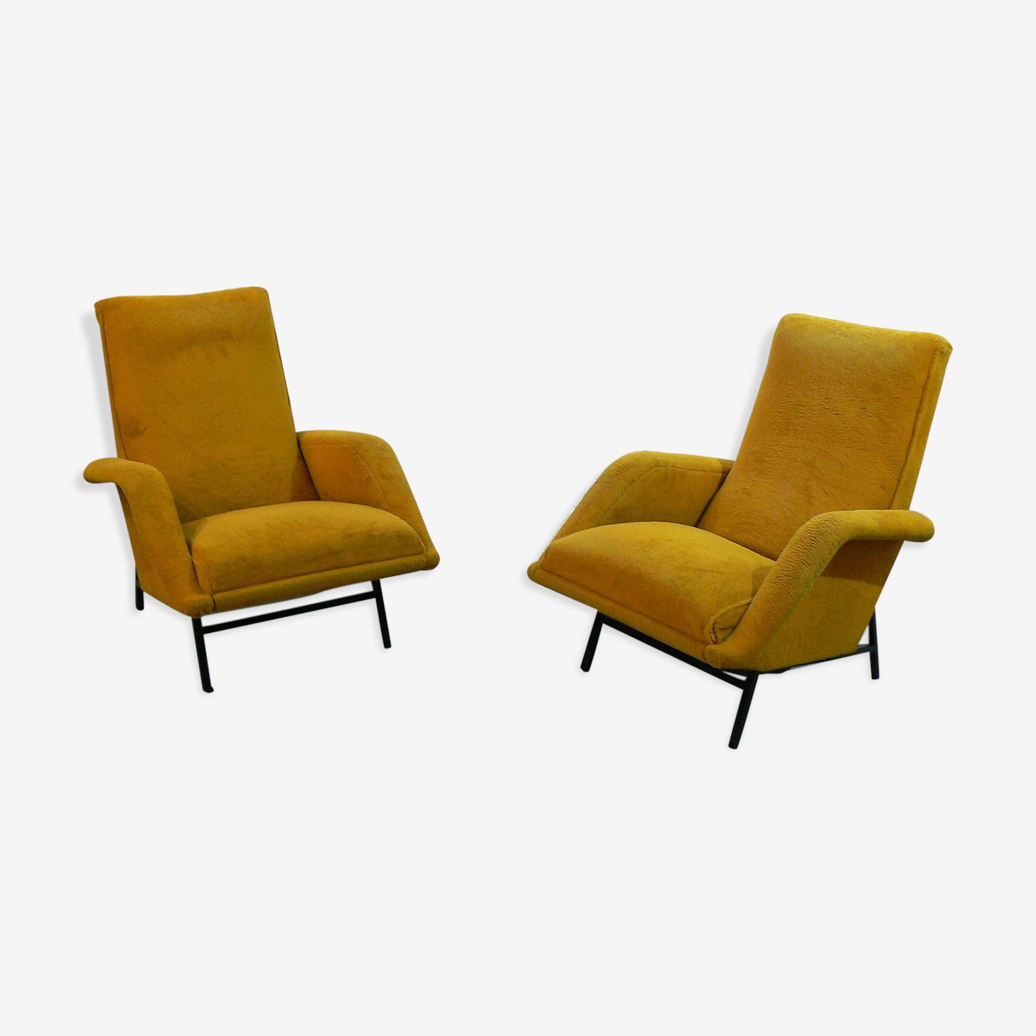 Paire de fauteuils par Guy Besnard 1959