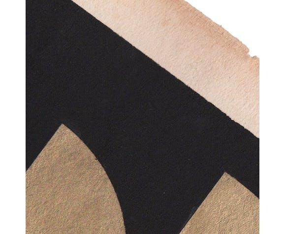 Collage sur papier daté et signé sans cadre C148