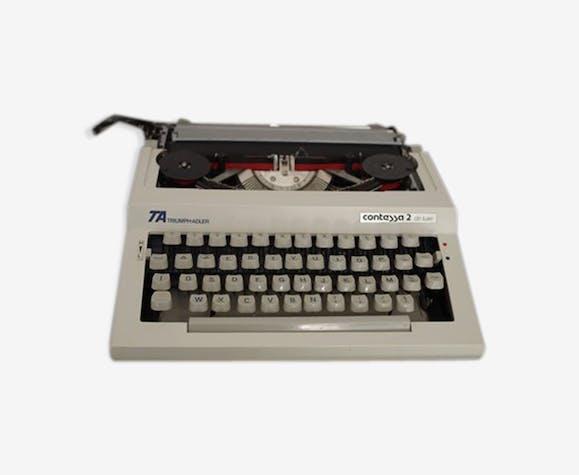 Machine a écrire années 1960 - triumph-adler - contessa 2 de luxe avec son couvercle de transport