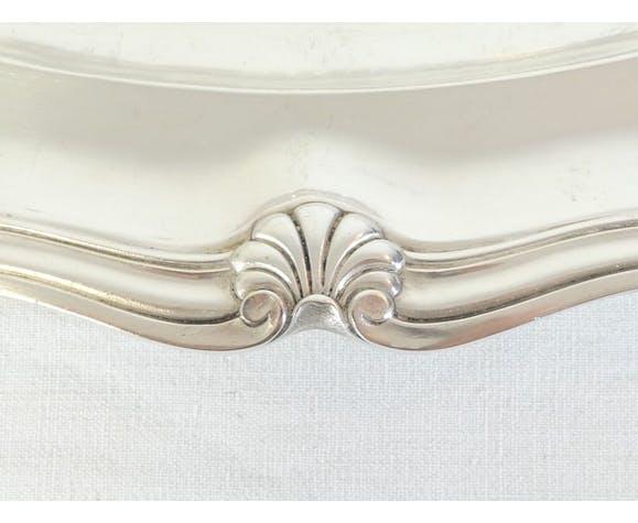 Victor saglier plat ovale en métal argenté