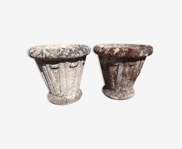 Paire de vases en pierre de Dordogne 19eme