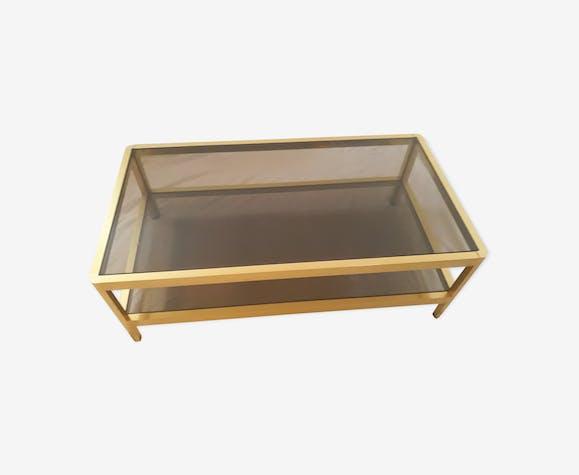 table basse roche bobois ann es 70 80 verre et cristal. Black Bedroom Furniture Sets. Home Design Ideas