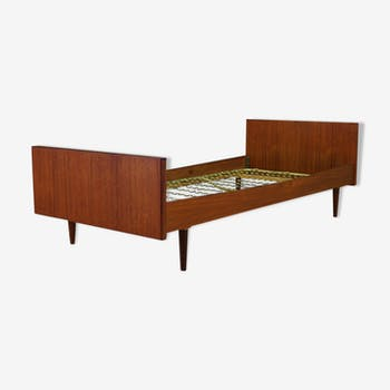 lit tete de lit et chevet suspendu vintage design scandinave ann e 50 60 bois mat riau. Black Bedroom Furniture Sets. Home Design Ideas