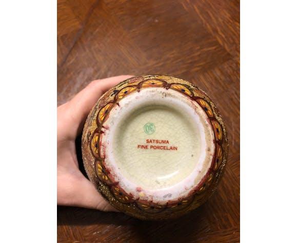 Vase japonais motifs en relief satsuma fine porcelain