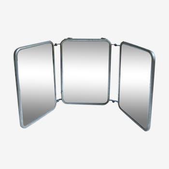 Miroir triptyque 1930 16x22cm