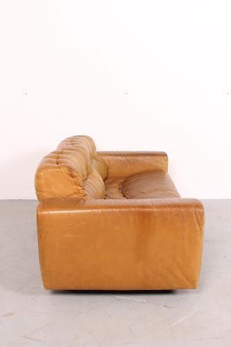 Canapé De Sede DS40 en cuir cognac