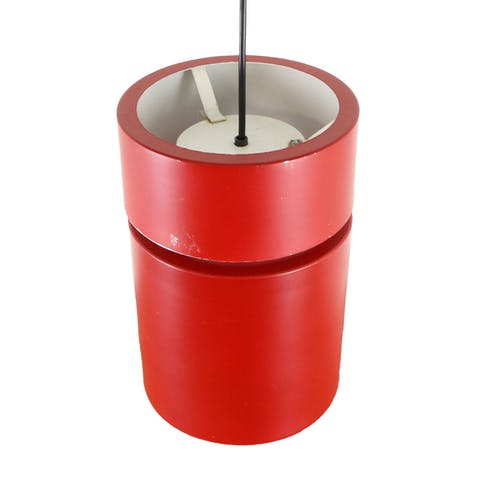 Paire de suspensions avec cylindre rouge, années 1970