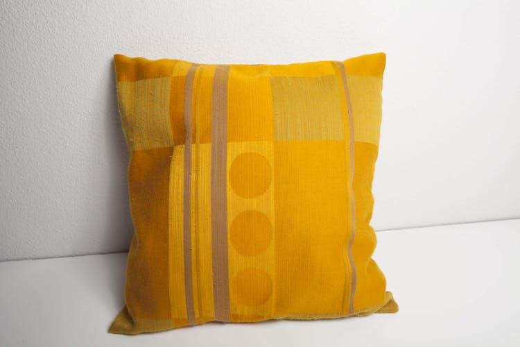 Coussin textile tissu moiré 60's carré