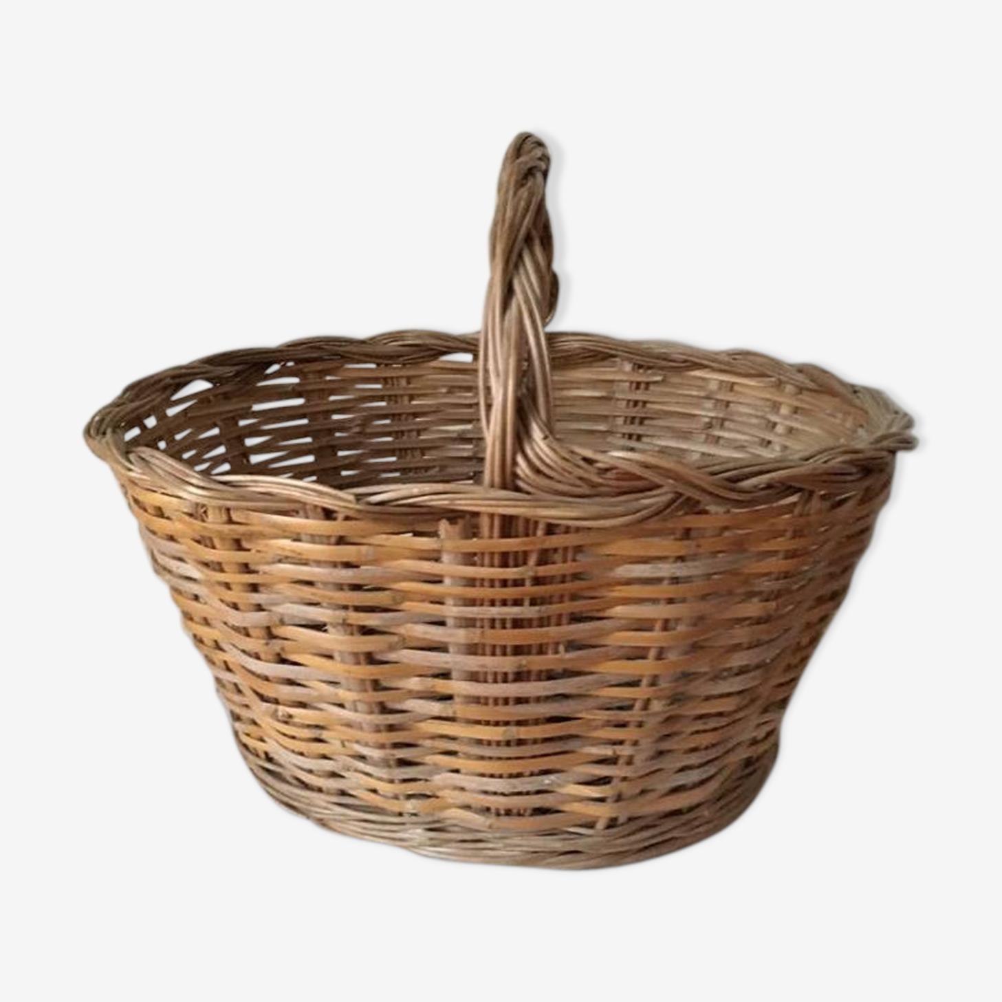 Big woven wicker basket