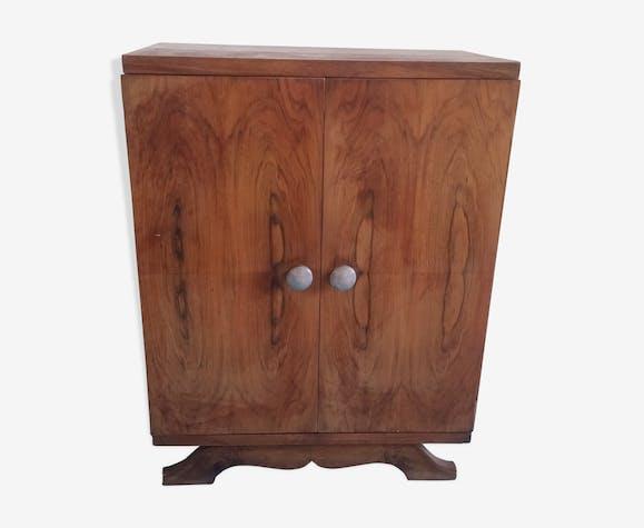 Buffet 2 portes en bois vintage style art déco