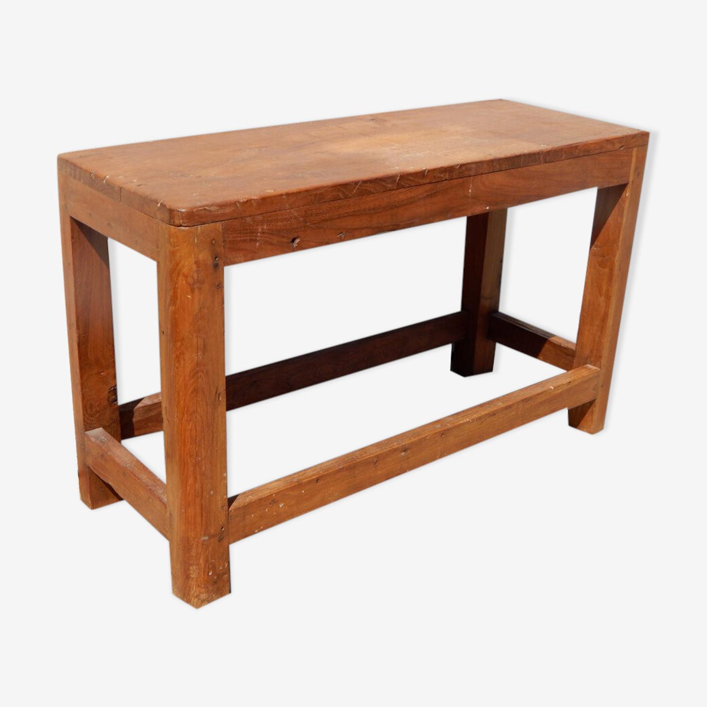 Banc vintage table enfant chevet vieux teck