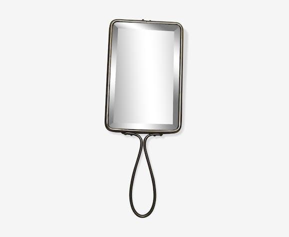 Miroir de barbier biseauté à main ou à suspendre