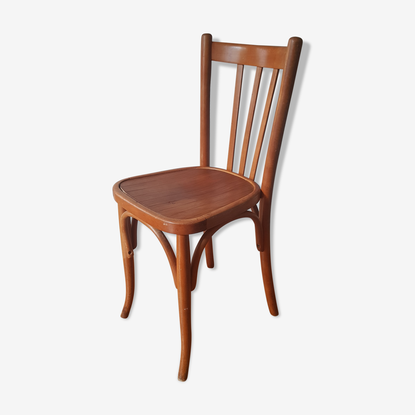 Chaise de bistrot vintage signée Mahieu