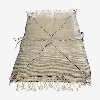 Carpet Kilim Zanafi black and white 150 x 110