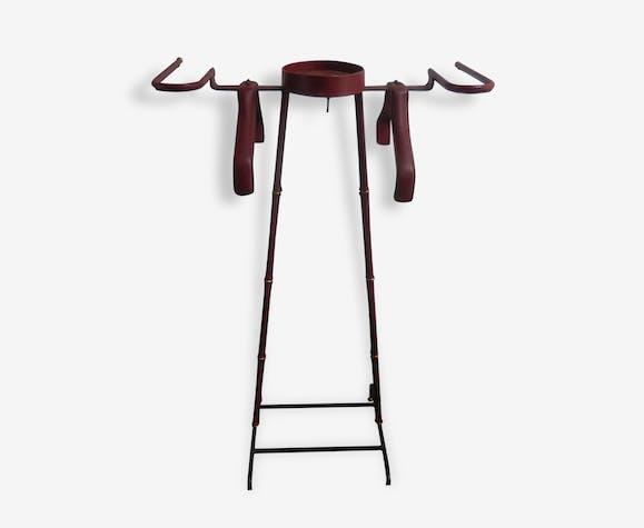 Valet de chambre vintage - leather - red - good condition - art deco - 96594