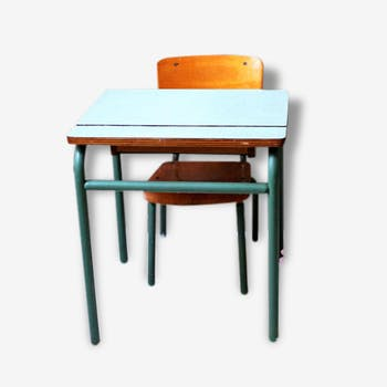 Desk and Chair of schoolboy vintage set