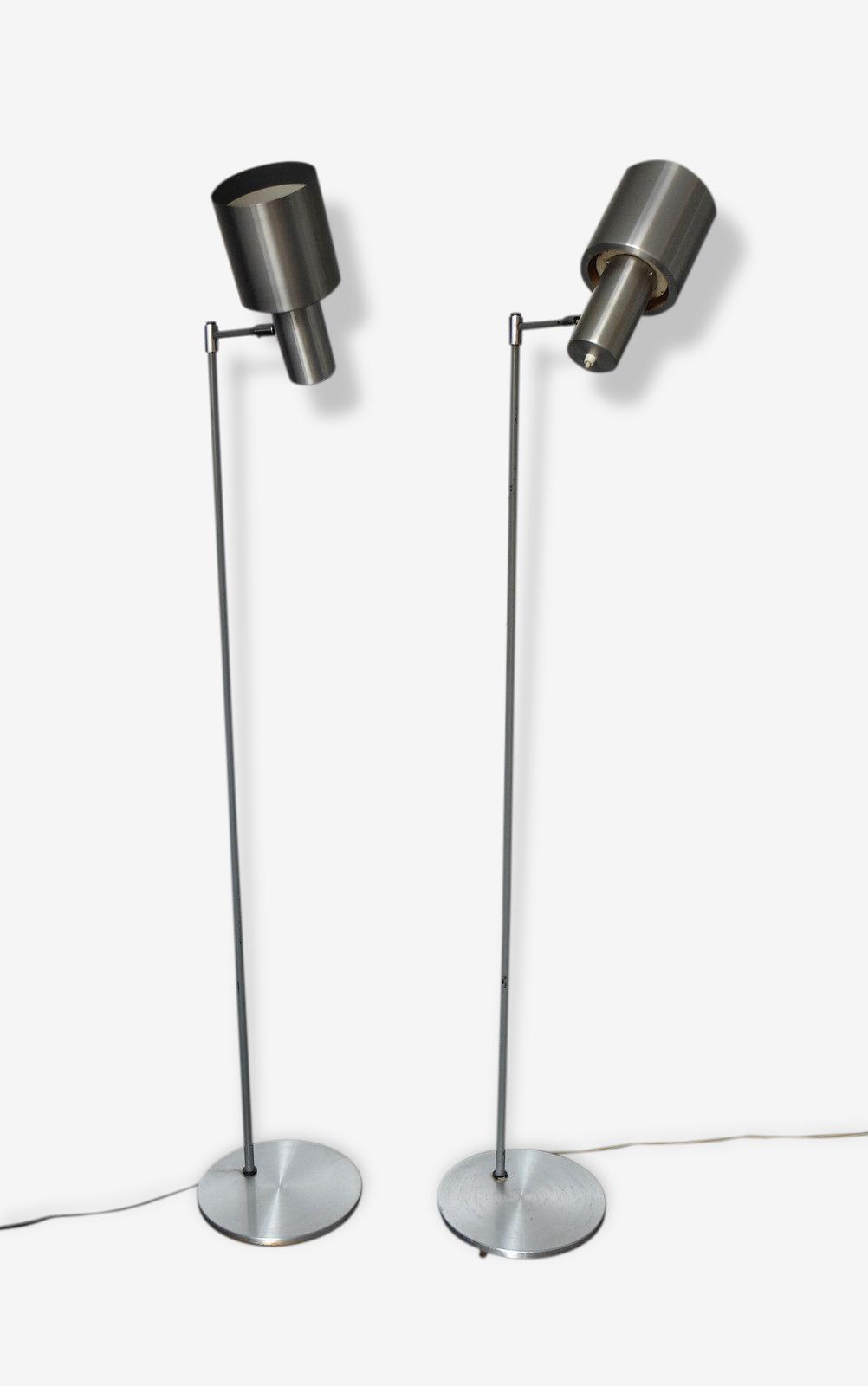 Paire Lampadaires scandinaves STUDIO Jo Hammerborg Fog&Morup floorlamp pair