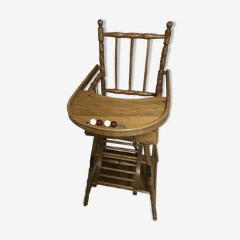 Chair high baby wooden
