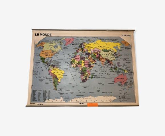 Carte scolaire Le Monde physique et politique