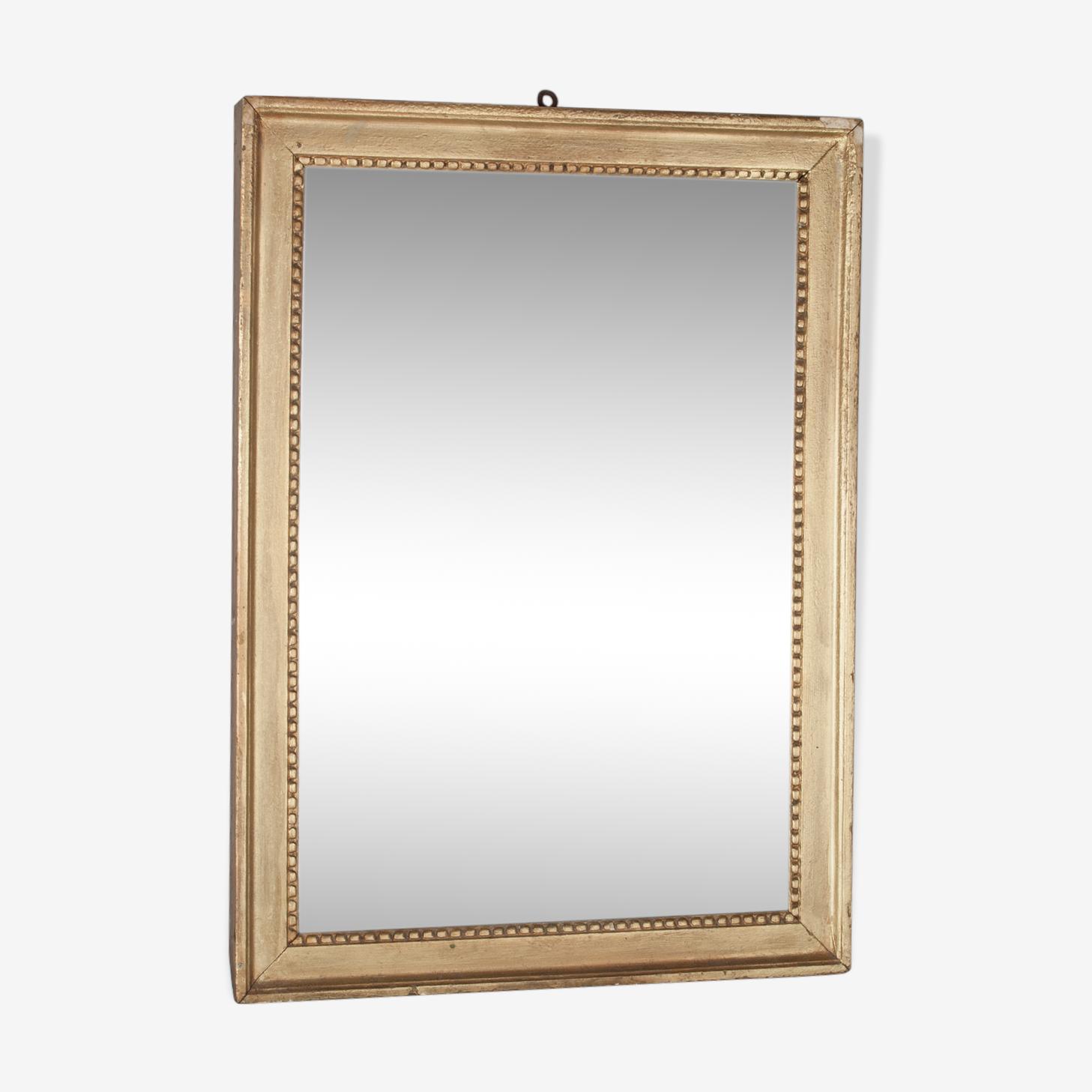 Miroir ancien style Louis XVI au mercure, 70 x 51,50 cm