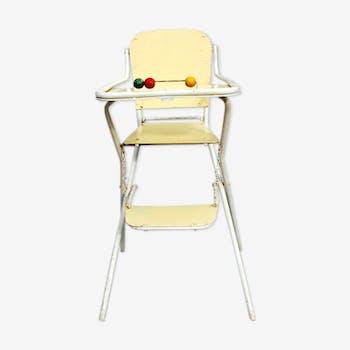 chaise haute enfant en formica formica blanc vintage. Black Bedroom Furniture Sets. Home Design Ideas