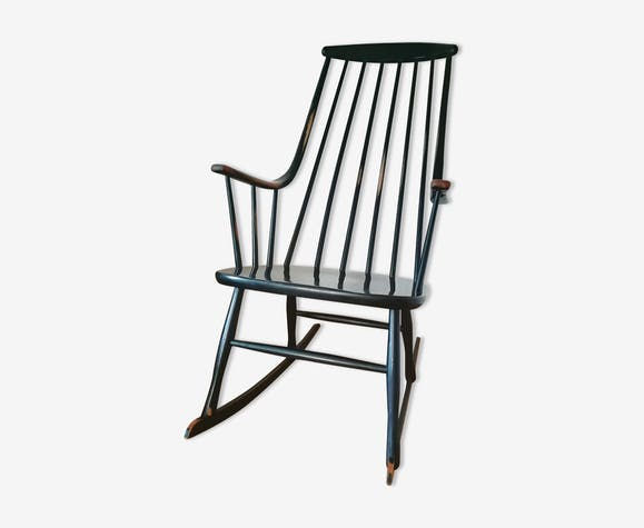Rocking chair scandinave Grandessa noir Lena Larsson