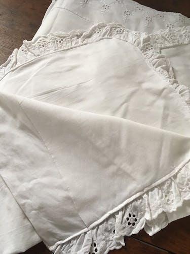Parure drap et deux taies d oreiller