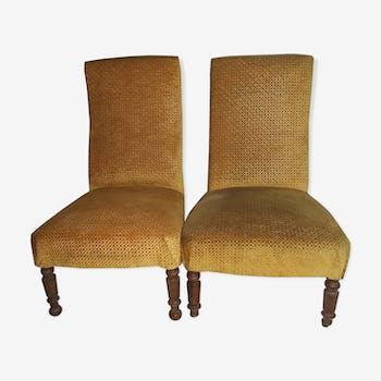 2 armchairs Napoleon III style