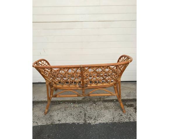 Canapé rotin et fauteuils