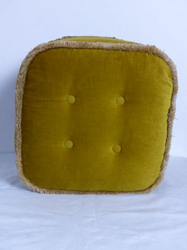 Ottoman velvet pouf
