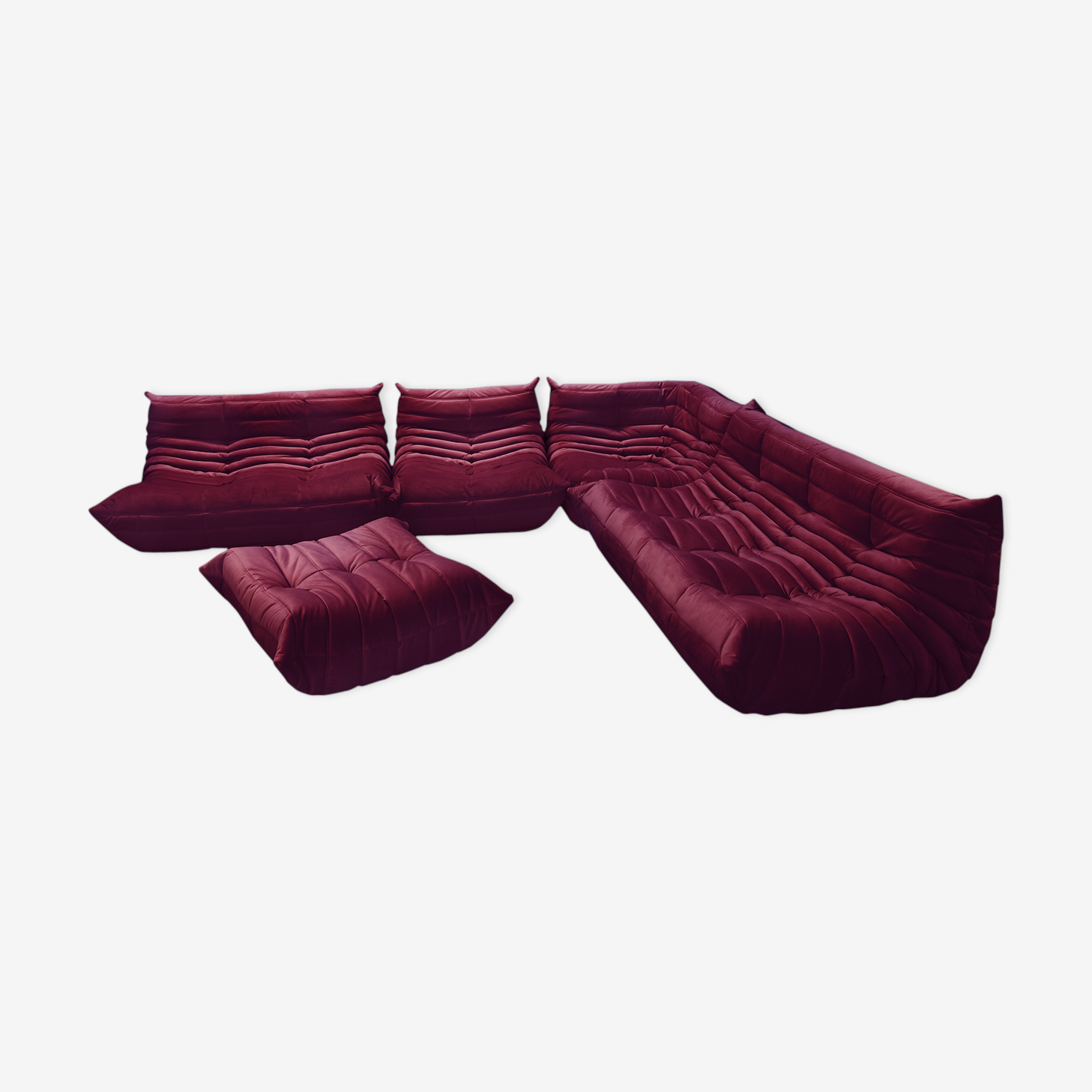 """Togo"" sofa set velvet by Michel Ducaroy for Ligne Roset"