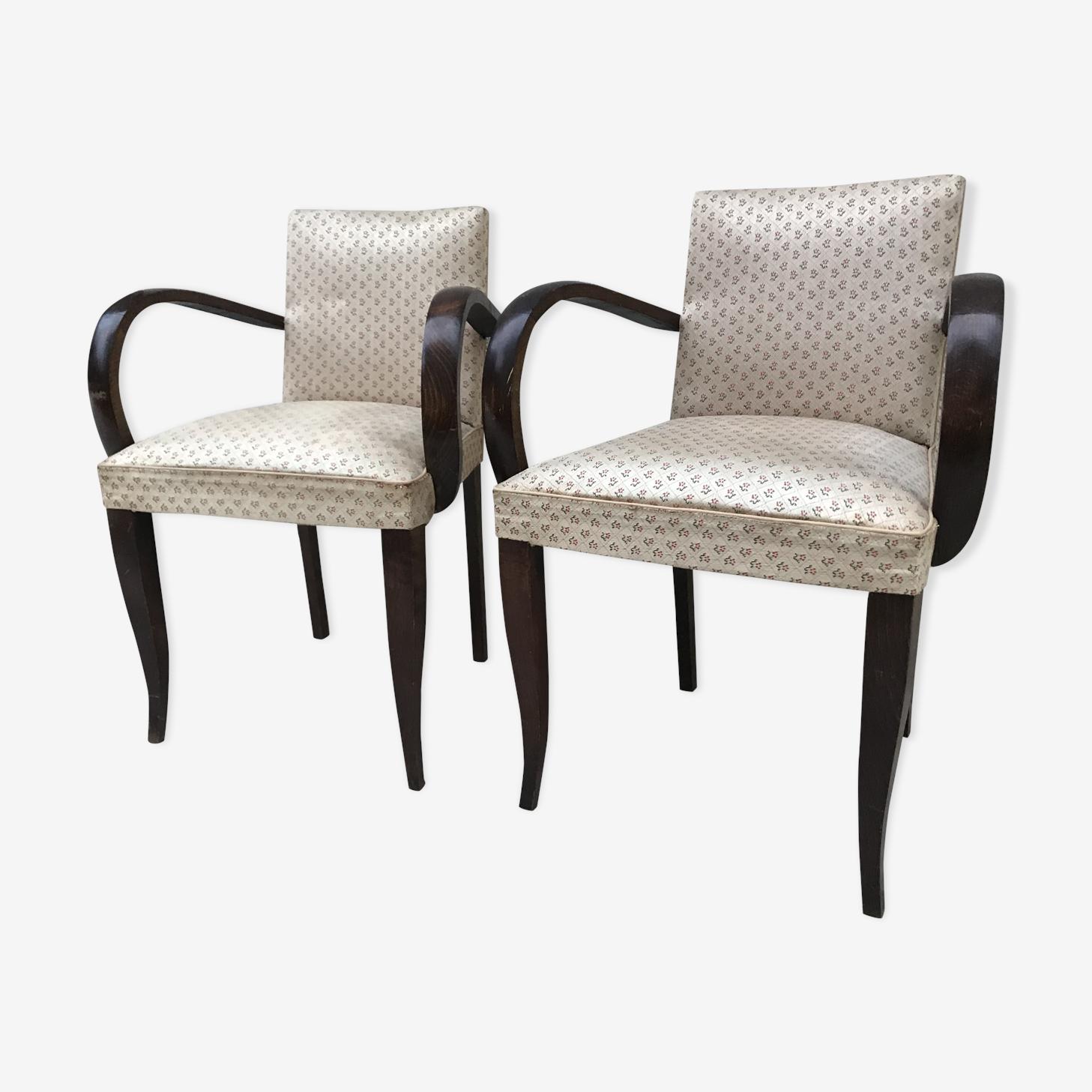 Pair of armchairs art deco bridges