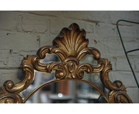 Louis XV style mirror in gilded wood 1950s 70x100cm