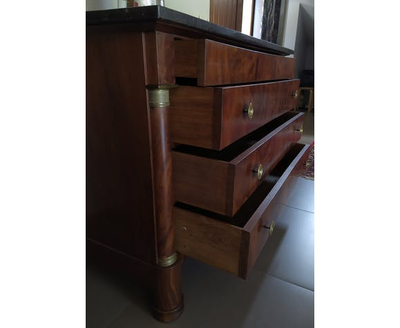 Old Empire style chest of drawers