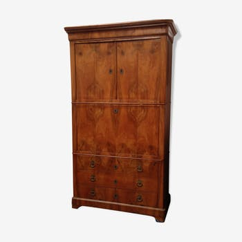 Secretary double hung in blond Walnut