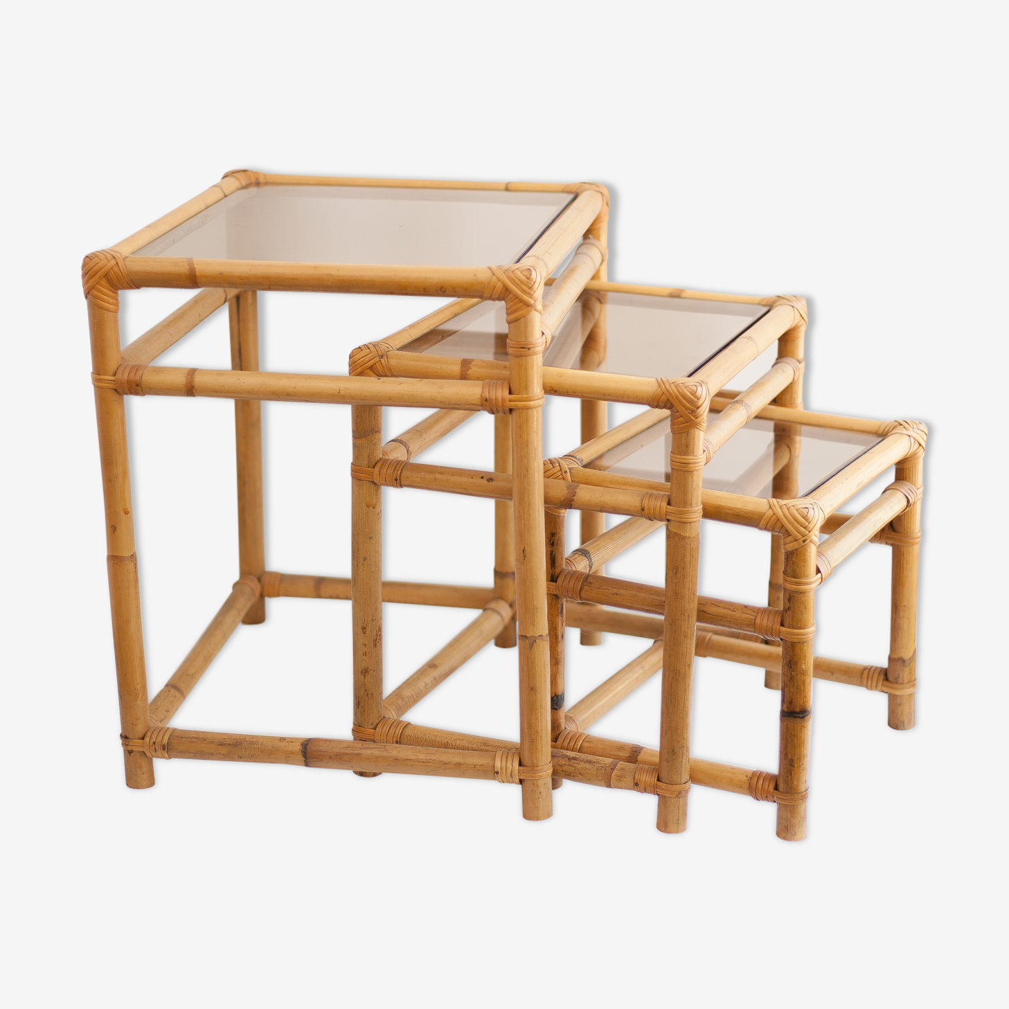 Pull-out tables  vintage 70