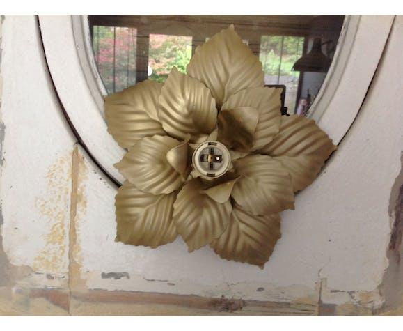 Applique fleur en métal