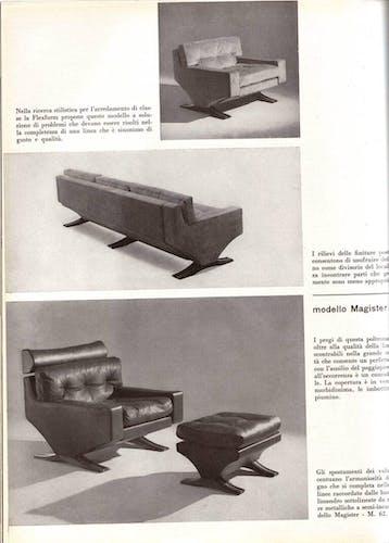 Pair of armchairs by the Italian sculptor Franz T Sartori Flexform 1965