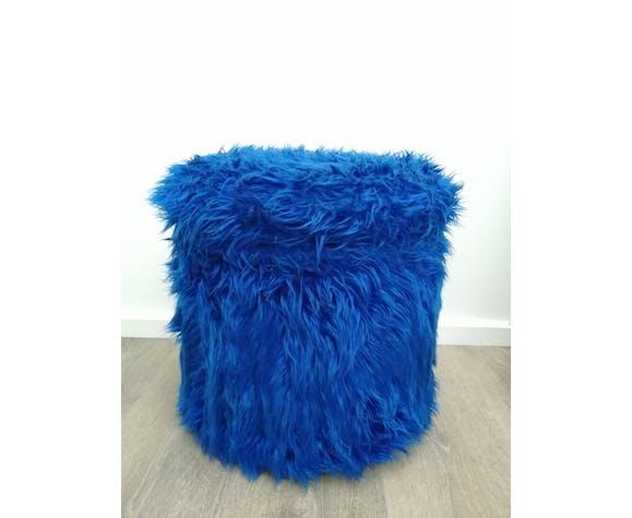 Pouf coffre bleu électrique