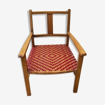 Wooden chair and rattan