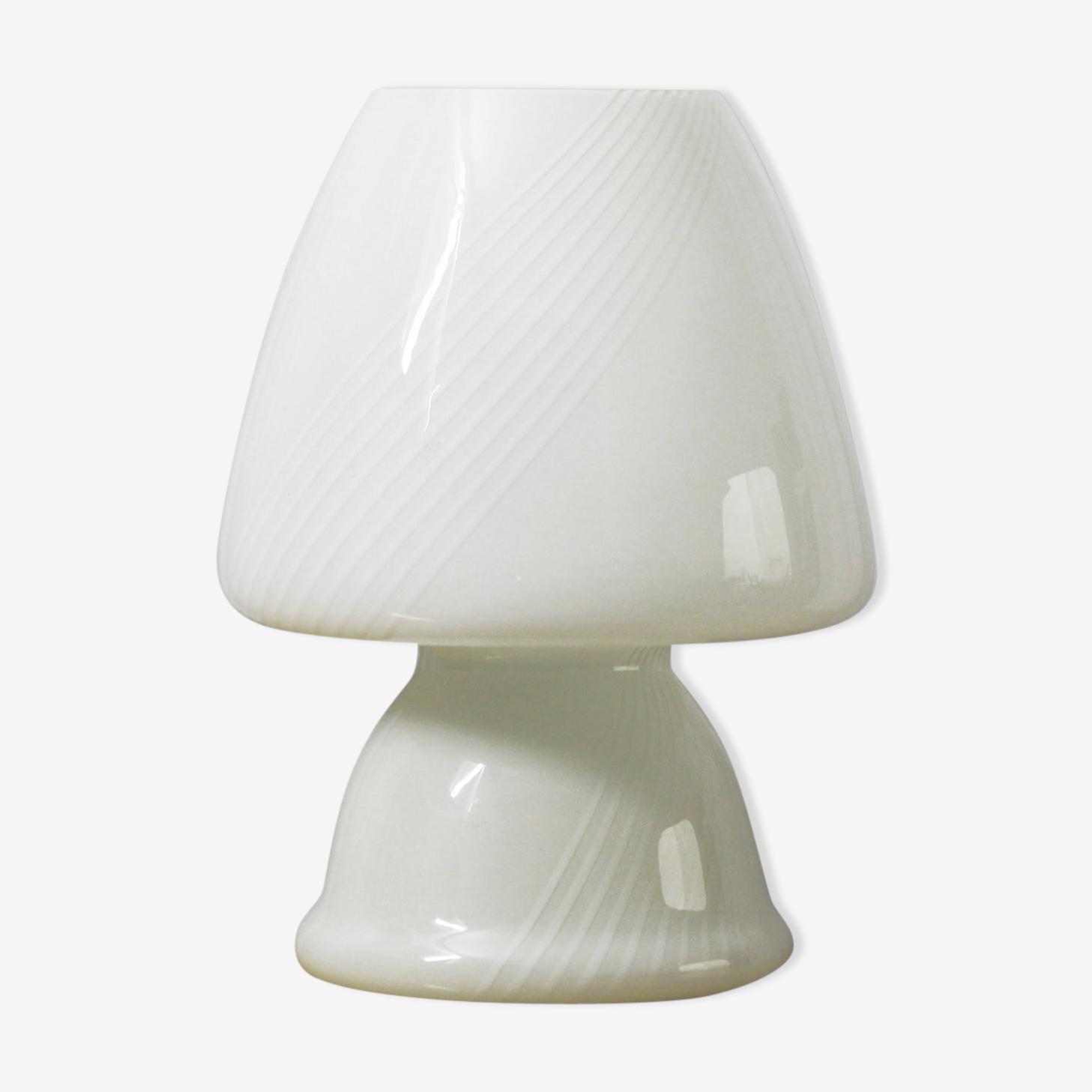 Lampe de table verre vintage, années 1970