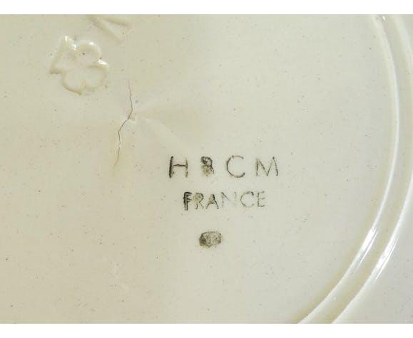Set de 6 assiettes en faience de Creil et Montereau hbcm modele Roger nº2