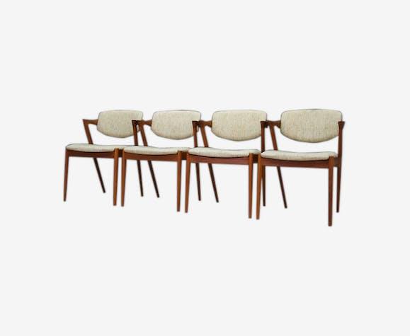 Set of 4 chairs by Kai Kristiansen