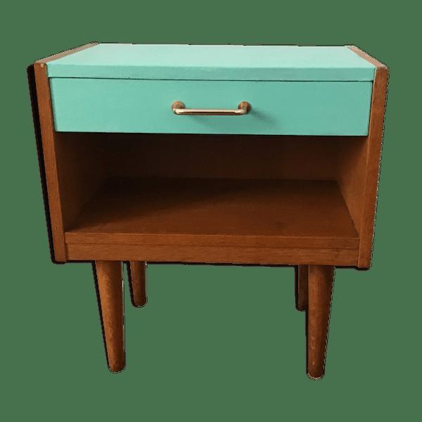 Vintage Vert Papier État Bjxu0kg Chevet Table Bon PuZXki