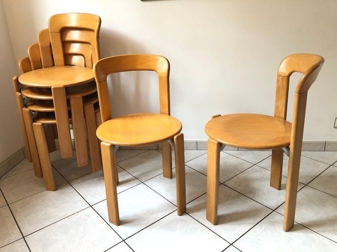 Paire de chaises Bruno Rey modèle 33 Kusch+Co Dietiker vintage 70