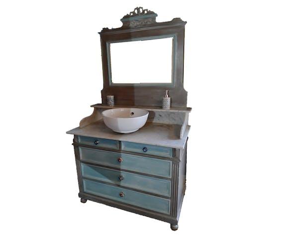 Coiffeuse ancienne restauré avec miroir