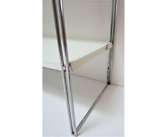 Étagère String métal blanc et acier années 60