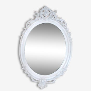 Miroir ovale de style Louis XV