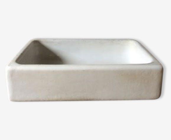 Evier Ceramique Porcelaine Faience Blanc Vintage 42265